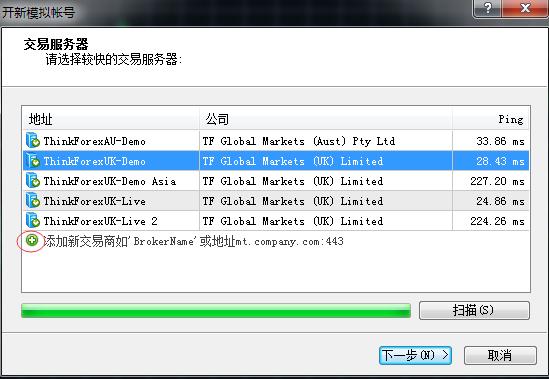 在MT4上登录时怎么找到自己对应的服务器是什么?